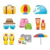 Praia dos ícones Imagem de Stock Royalty Free
