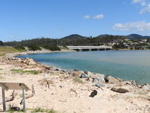 Praia dos aços, Scamander, Tasmânia Foto de Stock Royalty Free