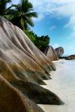 Praia dos granitos Imagens de Stock