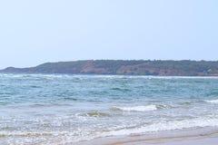 Praia dos mercadorias - uma praia sereno e Pristine em Ganpatipule, Ratnagiri, Maharashtra, Índia Fotografia de Stock Royalty Free