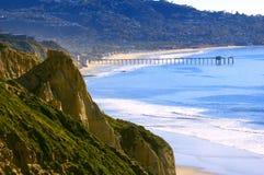 Praia dos pinhos de Torrey (Califórnia do sul) Foto de Stock Royalty Free