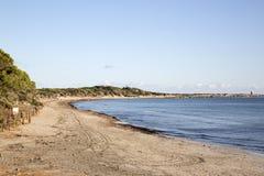 Praia dos Salinas em Ibiza foto de stock royalty free