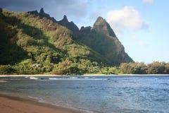 Praia dos túneis (Makua), Kauai Foto de Stock