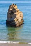 Praia dos Tres Castelos, Algarve, Portugalia Fotografia Royalty Free