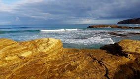A praia dourada fotografia de stock