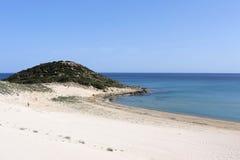 Praia dourada Fotografia de Stock Royalty Free