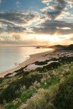 Praia dourada Fotografia de Stock