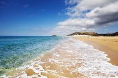 Praia dourada, península de Karpas, Chipre norte Imagem de Stock