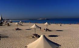 Praia Dubai de Jumeirah em 90s atrasado Fotos de Stock Royalty Free