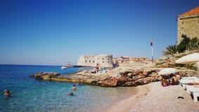 Praia Dubrovnik Fotos de Stock