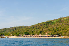 Praia e água de México Foto de Stock Royalty Free