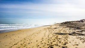A praia e as dunas bonitas de Bloubergstrand fotografia de stock royalty free