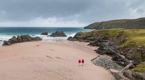 Praia e baía de Sango Fotografia de Stock