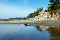Praia e céu Imagem de Stock Royalty Free