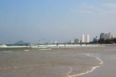 Praia e céu Fotos de Stock Royalty Free