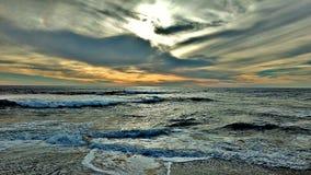 Praia e céu Imagens de Stock Royalty Free