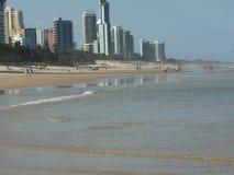 Praia e hotéis Imagens de Stock