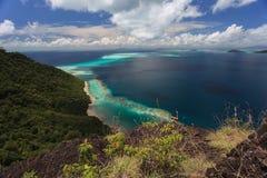 Praia e ilhas de Tropica Imagem de Stock Royalty Free