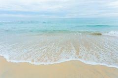 Praia e mar Foto de Stock