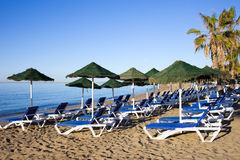 Praia e mar de Marbella Imagens de Stock