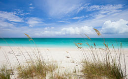Praia e mar do Cararibe Foto de Stock Royalty Free
