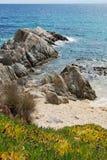 Praia e mar em Chalkidiki Greece fotos de stock