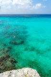 Praia e nadador de Knip fotografia de stock royalty free