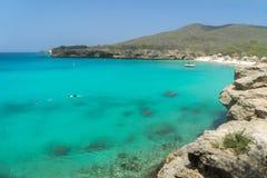 Praia e nadador de Knip imagem de stock