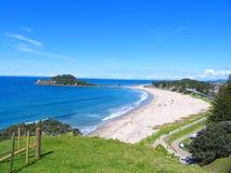 Praia e o céu Imagem de Stock Royalty Free
