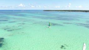A praia e o mar da República Dominicana vídeos de arquivo