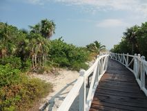 Praia e oceano em Cuba na primavera Recurso cubano imagem de stock royalty free