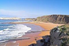 Praia e ondas Fotos de Stock
