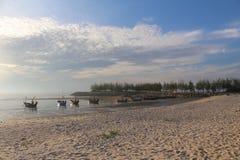Praia e pesca Fotografia de Stock Royalty Free