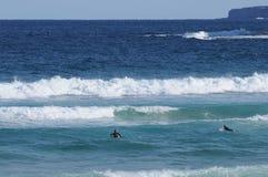 Praia e surfistas de Bondi em Sydney Fotos de Stock