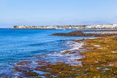 Praia e vila do BLANCA de Playa Fotos de Stock Royalty Free