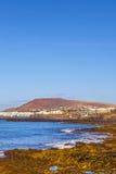 Praia e vila do BLANCA de Playa Imagem de Stock