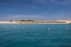 Praia egípcia Fotografia de Stock Royalty Free