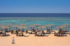 Praia egípcia Fotografia de Stock