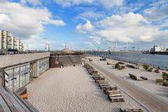 Praia em Aarhus em Dinamarca Fotografia de Stock Royalty Free