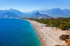 Praia em Antalya Turquia Fotografia de Stock Royalty Free