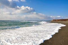 Praia em Avalon Peninsula em Terra Nova, Canadá Imagem de Stock