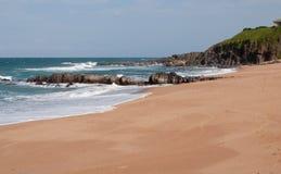 Praia em Ballito, KZN, África do Sul Imagens de Stock Royalty Free