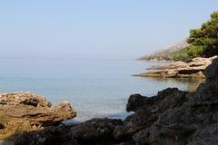 Praia em Brac, ano 2013 Fotografia de Stock