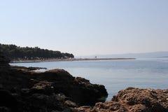 Praia em Brac, ano 2013 Foto de Stock Royalty Free