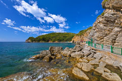 Praia em Budva Montenegro Imagem de Stock Royalty Free