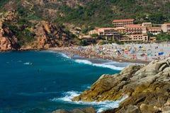 Praia em Córsega, Porto foto de stock