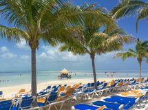 Praia em CocoCay Imagens de Stock Royalty Free