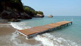 Praia em Corfu Fotografia de Stock