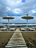 Praia em Crete Imagem de Stock