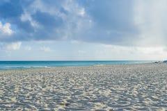 Praia em Cuba, meu paraíso pequeno de Varadero no mundo Imagens de Stock